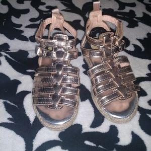 Other - Oshkosh Metallic Gold Toddler Espadrilles